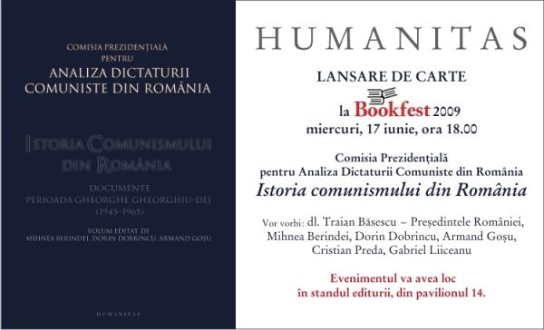 Lansare de carte, miercuri 17 iunie 2009